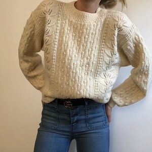 VINTAGE/ chunky cable knit sweater